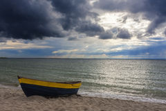 Autumn. Storm clouds over the sea Royalty Free Stock Images