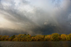 Autumn storm in Europe Stock Images