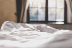 Autumn morning in bedroom Royalty Free Stock Photo