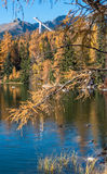 Autumn at Strbske Pleso, Slovakia Royalty Free Stock Photos