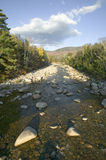 Autumn stream in Crawford Notch State Park in White Mountains of New Hampshire, New England Royalty Free Stock Photos