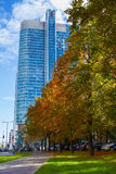 Autumn street in the city Royalty Free Stock Photo