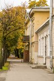 Autumn street in old town Stock Photo