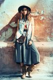 Autumn street style royalty free stock photography