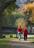 Autumn stroll in the park Stock Images