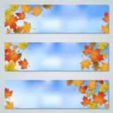 Autumn banners vector templates Royalty Free Stock Photos