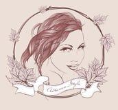 Elegant autumn girl. Vector illustration. Autumn style. Elegant autumn girl. Vector illustration Royalty Free Stock Photos