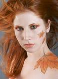 Autumn style face-art Stock Photography