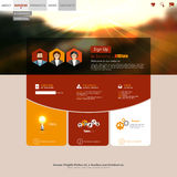 Autumn style Website Template Vector Design Royalty Free Stock Photography