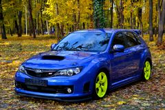 Subaru Impreza WRX STI Racecar Sport car Royalty Free Stock Photo