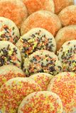 Autumn Sugar Cookie Background Stock Images