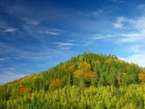 Autumn, summer hill Landscape stock image
