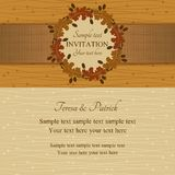 Autumn or summer invitation, brown and beige Stock Image