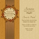 Autumn or summer invitation, brown and beige Stock Photography