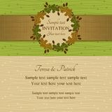 Autumn or summer invitation, green and beige Stock Photography