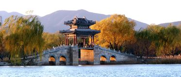 Autumn Summer Palace Stock Photo
