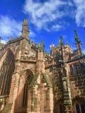 Autumn sun on a Cheshire church. St Marys Church Nantwich Cheshire England united kingdom royalty free stock photo