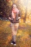 Autumn sun woman Royalty Free Stock Images