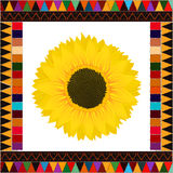 Autumn sunflower background Stock Photography