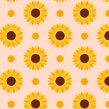 Autumn sunflowers pattern. Perfect for greetings card, textile, wallpapers. stock illustration