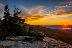 Autumn sunrise from Beacon Heights, on the Blue Ridge Parkway, N Royalty Free Stock Photo