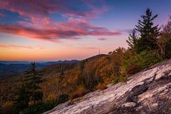 Autumn sunrise from Beacon Heights, on the Blue Ridge Parkway Stock Image