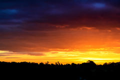 Autumn Sunrise in het Verenigd Koninkrijk Royalty-vrije Stock Foto's