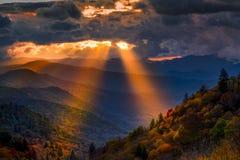 Autumn Sunrise im Smokies Stockbild