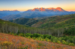Autumn Sunrise In The Wasatch Mountains. Royalty Free Stock Image
