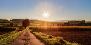 Autumn Sunrise Royalty Free Stock Photos