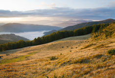 Autumn sunrise mountain view Stock Image