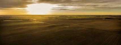 Autumn Sunrise Panoramic Stock Photo