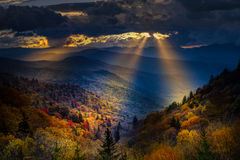 Autumn Sunrise in the Smokies Royalty Free Stock Photography