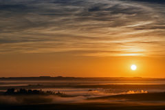 Autumn sunrise/sunset in Africa Royalty Free Stock Photography