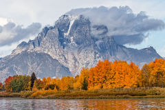 Autumn Sunrise in the Tetons Stock Images