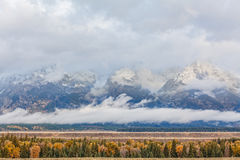 Autumn Sunrise in the Tetons Royalty Free Stock Photo