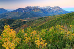 Autumn sunrise in the Wasatch Mountains. Royalty Free Stock Photos