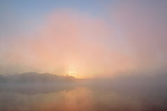 Autumn Sunrise Whitford Lake Stock Image