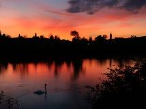 Autumn sunset Stock Photo