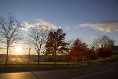 Autumn Sunset fotos de archivo