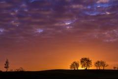 Autumn Sunset Royalty-vrije Stock Afbeeldingen
