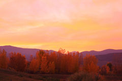 Autumn Sunset Stock Photography