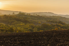 Autumn sunset on Agsu pass.Azerbaijan Royalty Free Stock Images