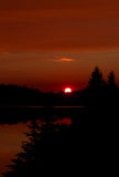 Autumn sunset in Algonquin Park Royalty Free Stock Photo