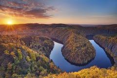 Autumn sunset. Royalty Free Stock Photo