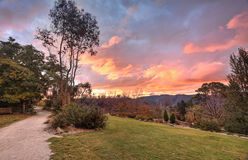 Autumn sunset Blue Mountains NSW Australia Royalty Free Stock Image