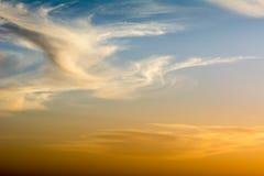 Autumn sunset. Autumn cloudy sunset in Amman - Jordan Stock Images