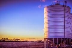 Autumn sunset on the farm stock images
