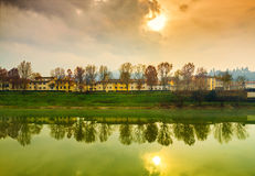 Autumn sunset in Florence Royalty Free Stock Photography