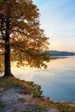 Autumn sunset on the lake Royalty Free Stock Photo